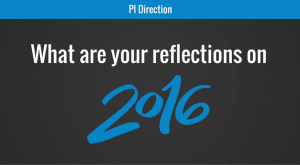 What are your reflections on 2016?