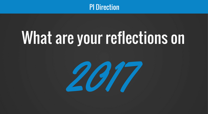 What are your reflections on 2017?