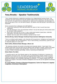 Download Testimonials